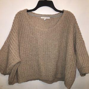 Victoria Secret Tan Crop Sweater